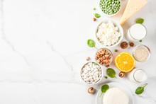 Healthy Food Concept. Set Of F...
