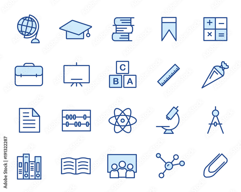 Fototapeta Education Vector Icon Set