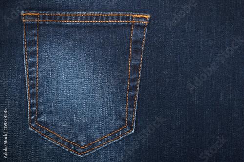Fotografía  part of women's jeans with a back pocket