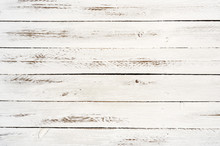 White Wooden Slats Background