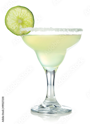 Autocollant pour porte Cocktail Classic margarita cocktail with lime