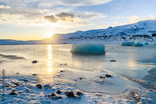 Fototapety, obrazy: frozen landscape at vatnajokull glacier, Iceland