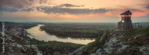 Foto op Plexiglas Grijs On the Hill above the River