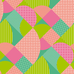 abstract multicolored geometric pattern in pastel color.