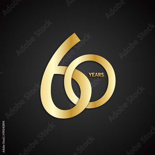Fotografia  60 YEAR ANNIVERSARY Vector Icon