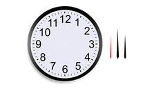 Blank Round Clock Face With Ho...