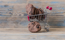 Supermarket Trolley With Cookies