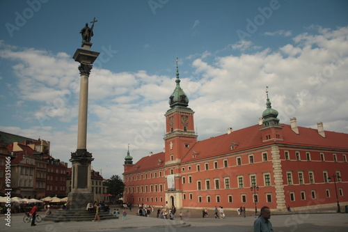 Fototapety, obrazy: Historic Castle Square in Warsaw, Poland, with the old King Sigismund column.