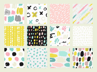 Collections of colorful seamless pattern.