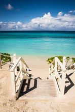 Beach Stairs To Turquoise Water