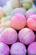 canvas print picture - Bath Bombs at the Market