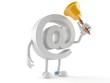 E-mail character ringing a handbell