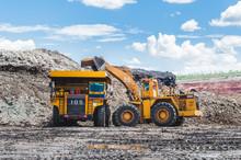 Excavator Loading Of Coal, Ore...