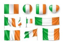 Set Ireland Flags, Banners, Ba...