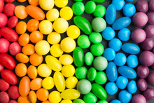 Rainbow Colorful Candies Backg...