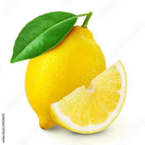 lemon fruit slice Fototapete