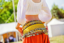 Belly Dancer Wearing Typical Arabic Costume