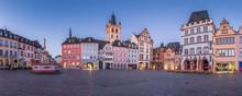 Twilight Panorama Of The Historic City Of Trier, Rheinland-Pfalz, Germany