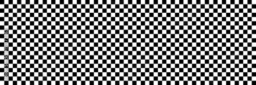 horizontal black and white checked sport or racing flag for background and design