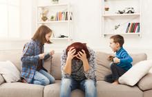 Kids Having Quarrel Over Tired...