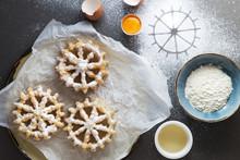 Sweet Cookies And Ingredients