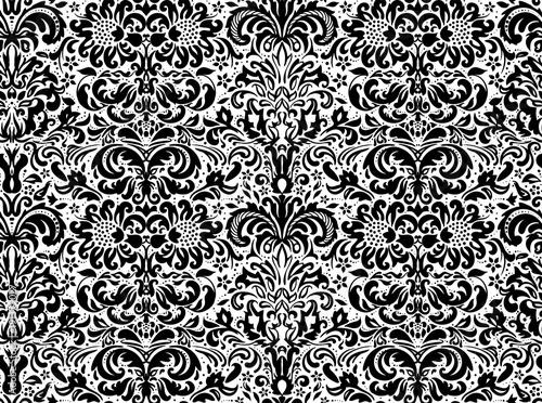 bezszwowy-czarny-ornament-na-bialym-tle-tapeta-kwiatowy-ornament-na-tle