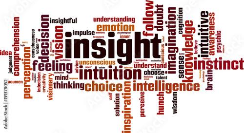 Insight word cloud Canvas Print