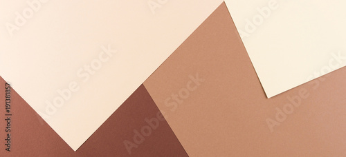Plakaty brązowe  color-papers-geometry-composition-banner-background-with-pink-beige-and-brown-tones