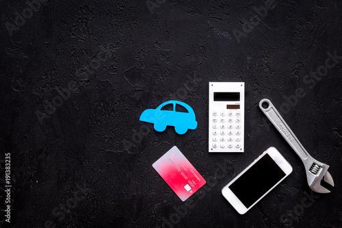 Cost of car repair  Automobile service  Car silhouette