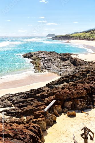 Photo in  australia  the  beach  island the tree and rocks