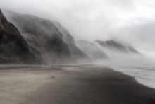 Beautiful Foggy Beach In Point Reyes, California