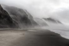 Beautiful Foggy Beach In Point Reyes, California