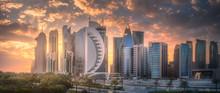Skyline Of West Bay And Doha C...
