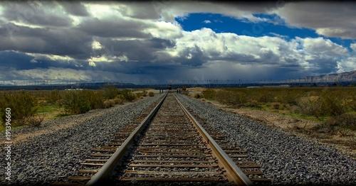 Keuken foto achterwand Spoorlijn Where the earth meets the sky