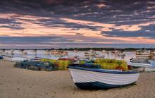 Sunset In Punta Umbria Shippin...
