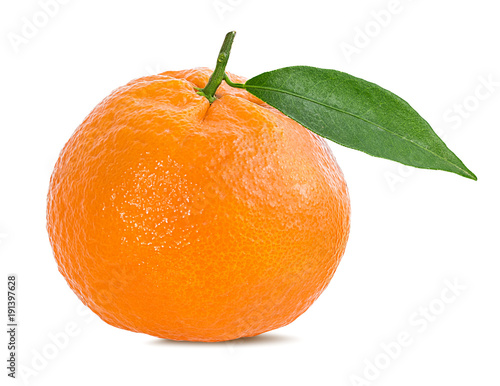 tangerine or mandarin fruit isolated on white background