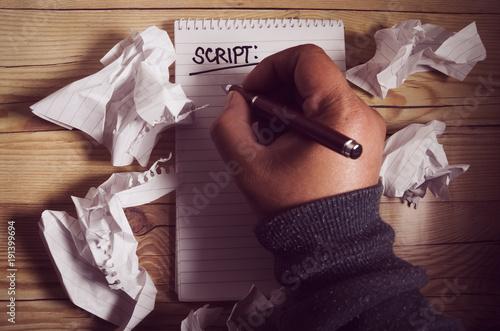 Obraz na plátně Script writer