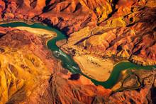 Aerial Landscape View Of Color...