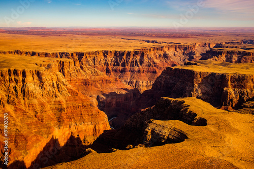 Tuinposter Canyon Aerial landscape view of Grand canyon, Arizona