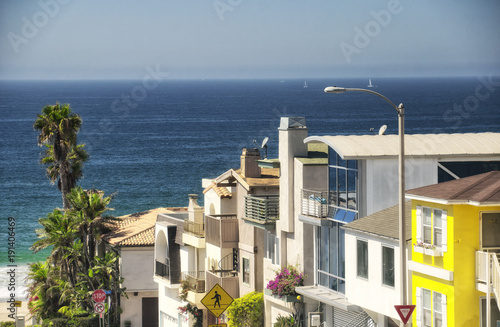 manhattan beach california houses - Buy this stock photo and