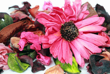 Pink Potpourri - Mixed Of Dried Scented Flowers, Leaves And Petals