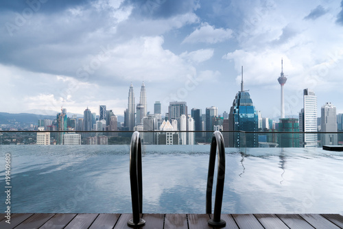 Photo  View from pool on city