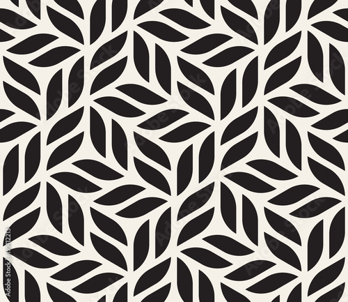 obraz lub plakat Vector seamless pattern. Modern stylish abstract texture. Repeating geometric shapes from striped elements