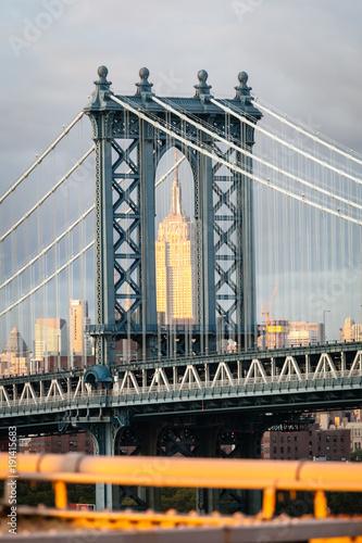Foto op Plexiglas New York TAXI Manhattan bridge, New York, United States of America