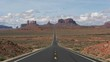 a morning shot of hwy 163, made famous in forrest gump, at monument valley in utah,usa