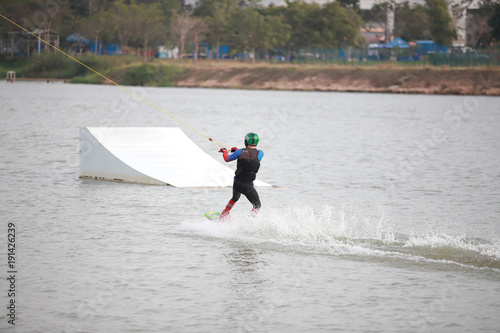 Papiers peints Arctique Surfing at the water sports arena.