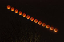 Time Lapse Series Of The Lunar Eclipse - January 31 2018
