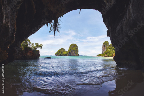 Foto op Aluminium Cathedral Cove Sea cave