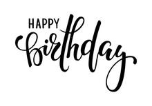 Happy Birthday. Hand Drawn Cal...