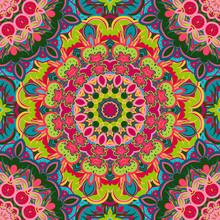 Festival Art Seamless Mandala ...